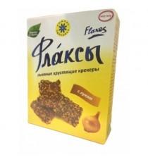 Флаксы (льняные крекеры) с луком, 150 гр.