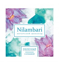 Шоколад на овс. молоке с клубникой, 65гр, Nilambari