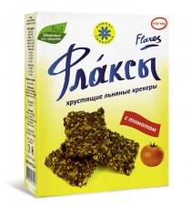Флаксы (льняные крекеры) с томатом, 150 гр.